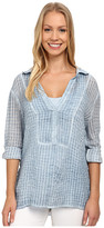 Miraclebody Jeans Brianna Collar Tunic Top w/ Body-Shaping Inner Shell