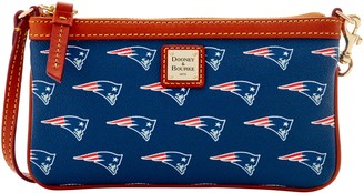 Dooney & Bourke NFL Patriots Large Slim Wristlet
