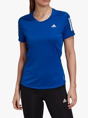 adidas Own The Run Short Sleeve Running Top, Team Royal Blue
