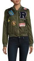 Bagatelle Ribbed-Trim Bomber Jacket