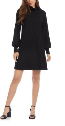Karen Kane Turtleneck Long Sleeve Dress