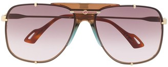 Gucci Aviator Frame Sunglasses