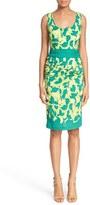 Tracy Reese Print Stretch Silk Sheath Dress