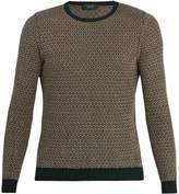 Zanone Crew-neck cotton and linen-blend sweater
