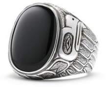 David Yurman Northwest Signet Ring With Black Onyx