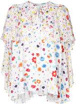 G.V.G.V. floral print chiffon ruffled blouse - women - Cupro/Rayon - 34