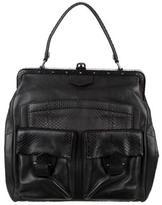Reed Krakoff Snakeskin-Trimmed Frame Bag