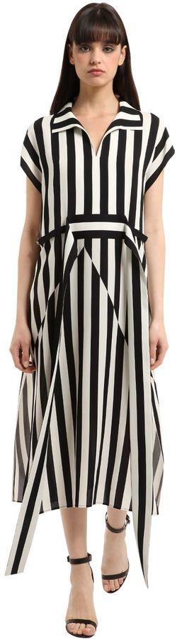 Akris Striped Silk Crepe Dress