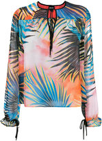 Just Cavalli tropical print blouse