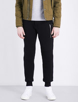 The Kooples Sport Zip-detail relaxed-fit cotton jogging bottoms
