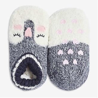 Joe Fresh Toddler Girls' Slipper Socks, Navy (Size 1-3)