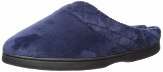 Dearfoams Women's Microfiber Quilted Cuff Velour Clog Peacoat X-Large US