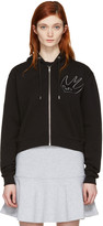 McQ by Alexander McQueen Black Cropped Swallow Hoodie