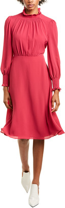 Maggy London Smocked A-Line Dress