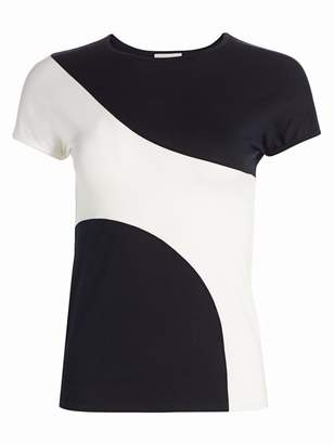 Akris Punto Graphic Colorblock Fitted Tee