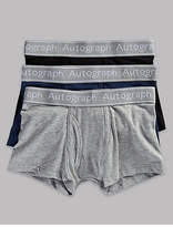 Autograph 3 Pack Cotton Trunks with Stretch (4-16 Years)