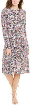 Tory Burch Printed Silk Shift Dress