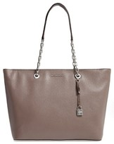 MICHAEL Michael Kors Medium Mercer Leather Tote - Purple