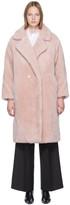 Yves Salomon Meteo Meteo Pink Woven Wool Coat