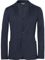 Giorgio Armani Blue Slim-Fit Unstructured Jersey Blazer