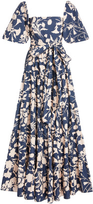 Cara Wethersfield Cotton-Poplin Maxi Dress