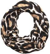 Natural Leopard Print Snood