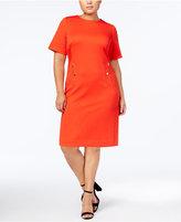Calvin Klein Plus Size Zip-Pocket Sheath Dress