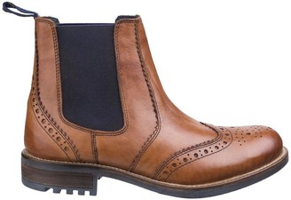 Cotswold Cirencester Leather Brogue Boots - Tan