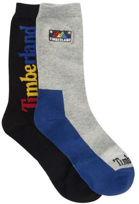 Timberland Modern Mountain Crew Socks - Pack of 2