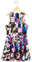 Milly Minis Girls' Abstract Print Flared Dress