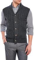 lincs Cashmere Shawl Collar Vest