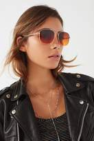 Urban Outfitters Far Out Translucent Metal Aviator Sunglasses