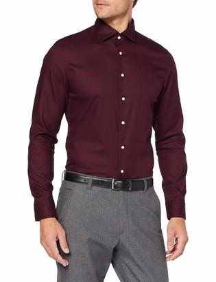 Seidensticker Men's Slim Fit Langarm Mit Spread Kent-Kragen Bugelleicht Uni-Smart Business by 100% Baumwolle Formal Shirt