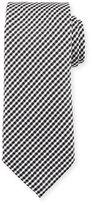 Tom Ford Textured Micro-Check Silk Tie, White/Black