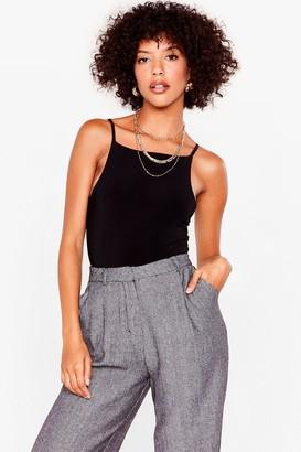 Nasty Gal Womens Strappy For You High-Leg Bodysuit - Black - 4, Black