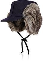 Lola Hats Women's Woodsman Wool Trapper Hat-Navy