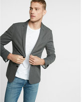 Express slim photographer double knit blazer