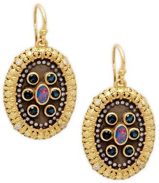 Armenta 18K Yellow Gold, Black Rhodium-Plated, Diamond Opal Earrings