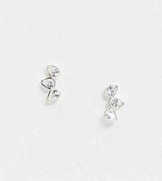 Kingsley Ryan Exclusive sterling silver crystal ear climber earrings