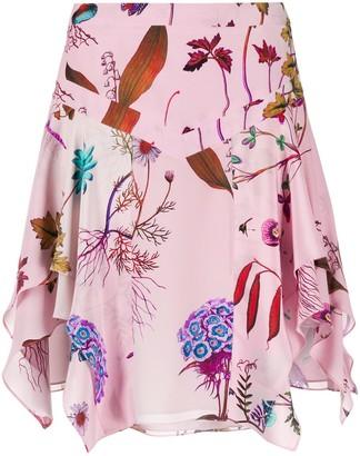 Stella McCartney Fantasy Print Draped Skirt