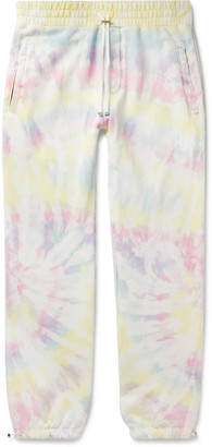 Amiri Tie-Dyed Loopback Cotton-Jersey Sweatpants - Men - Yellow