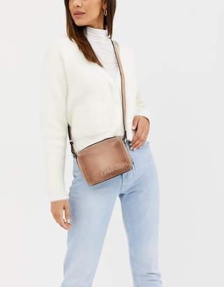 Calvin Klein Cube small cross body bag in sand-Beige