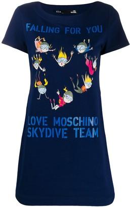 Love Moschino Skydiving print T-shirt dress