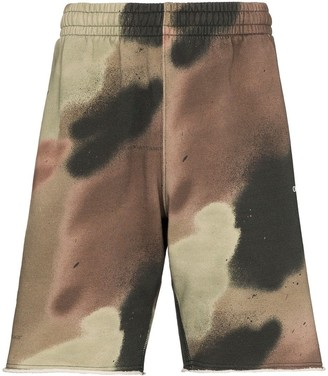 Off-White Sprayed Arrows camouflage track shorts