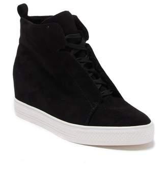 Susina Aubree Faux Fur Wedge Platform Sneaker
