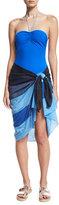 Diane von Furstenberg Colorblock Voile Pareo, Blue