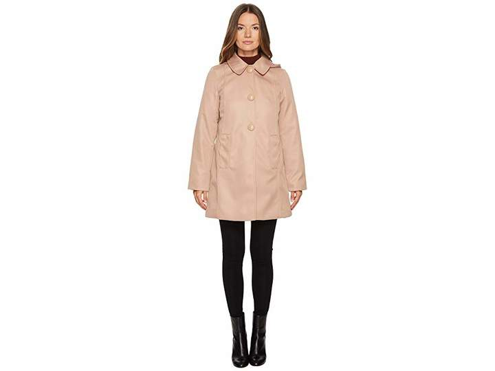 Kate Spade Rain Button Front Hooded Jacket Women's Coat