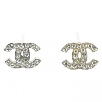 Chanel CC Silver Metal Earrings