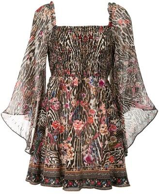 Camilla Shirred Bodice Mini Dress