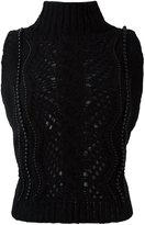 Ermanno Scervino sleeveless beaded knitted top